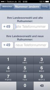 telekom nummer ändern