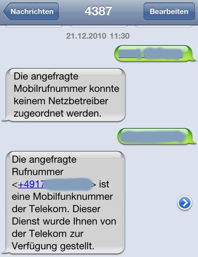 Mobilfunknummer Orten